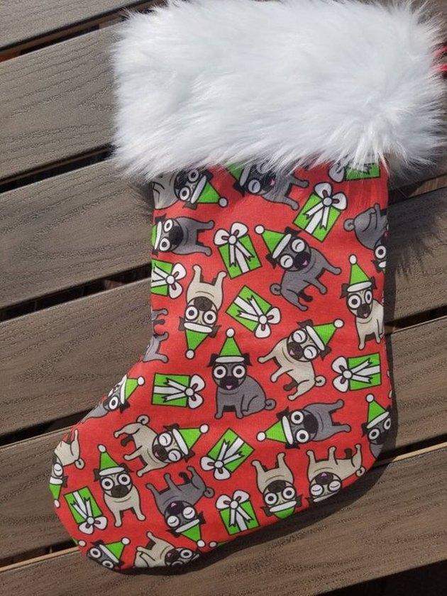 crazy pug stocking