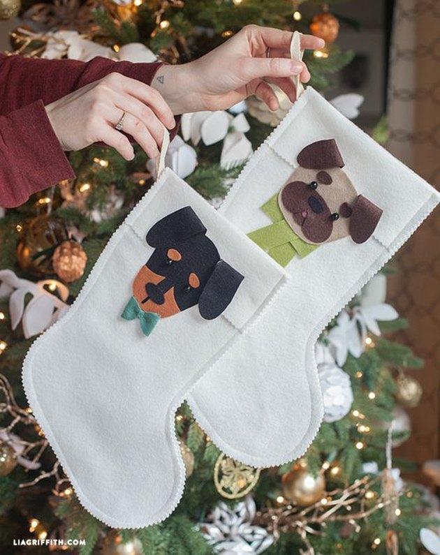 bow tie dog stocking