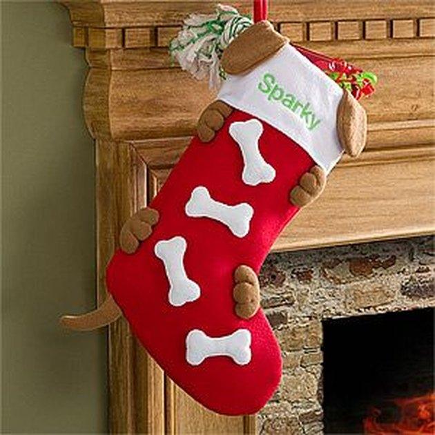 hiding dog stocking
