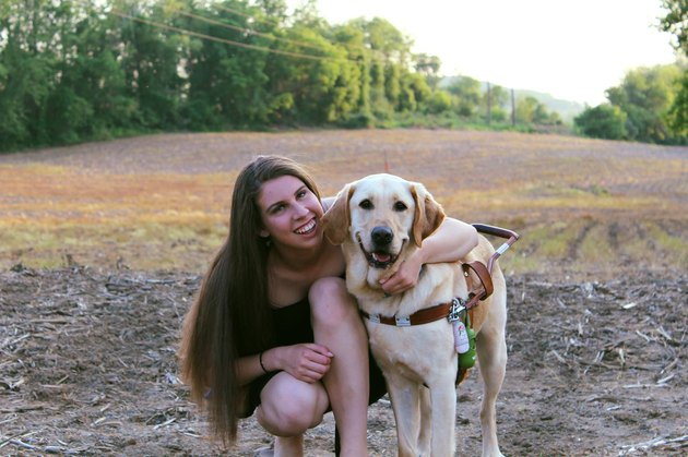 Mischievous guide dog reroutes woman to pet supply shop