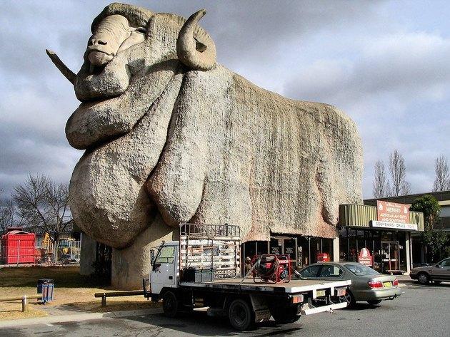 building shaped like a ram