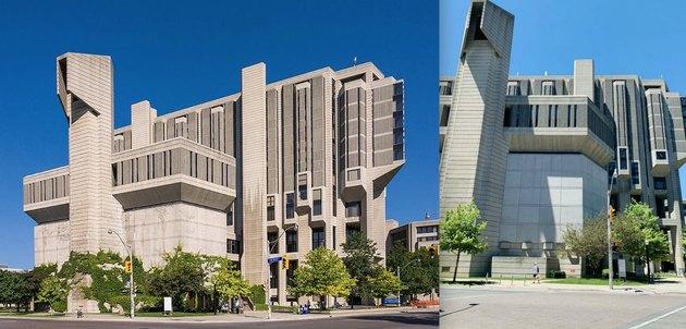 library shaped like peacock
