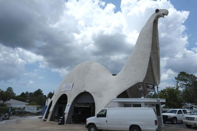 building shaped like dinosaur