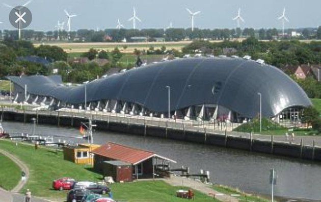 building shaped like whale