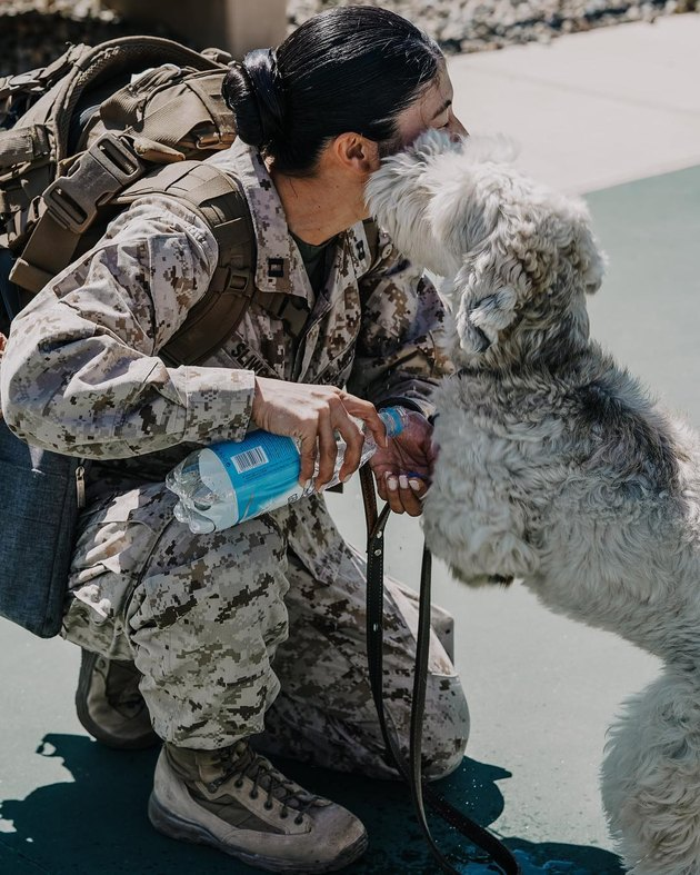 Dog welcomes Marine home from deployment