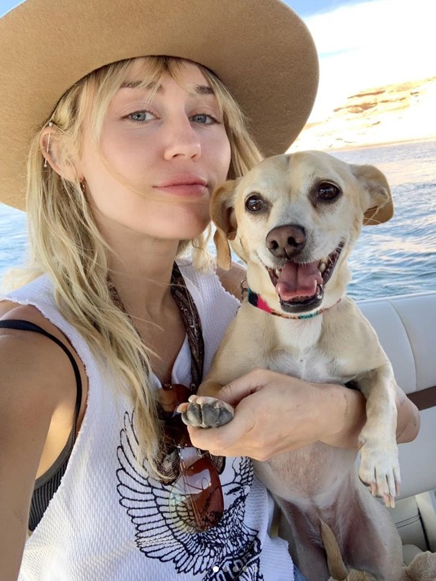 Miley and dog