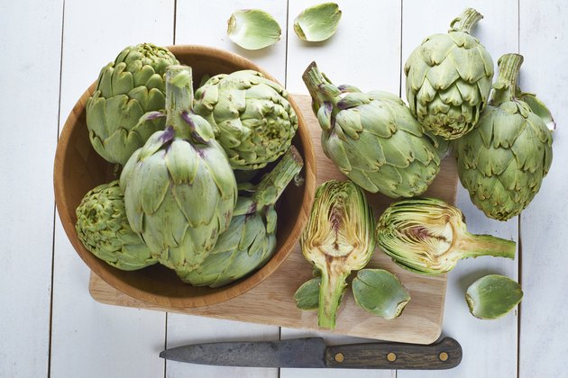 Fresh artichokes to cook