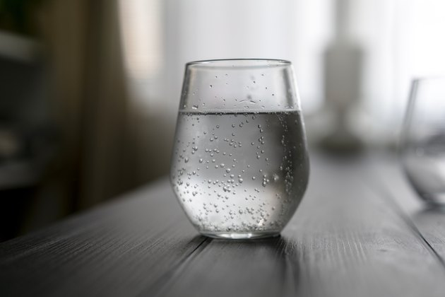 glass of soda water