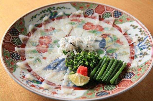 fugu sashimi (pufferfish)