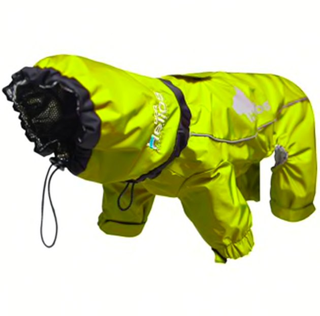 Dog Helios Yellow Weather-King Ultimate Windproof Full Bodied Pet Jacket