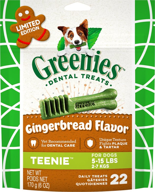 Greenies Seasonal Gingerbread Flavor Dental Dog Treats