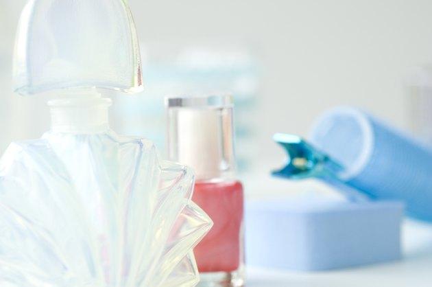 Perfume and nail polish