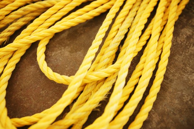 Yellow nylon rope