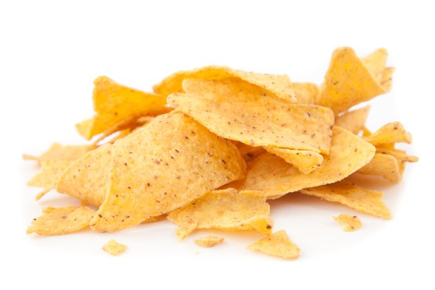 Stack of triangular chips