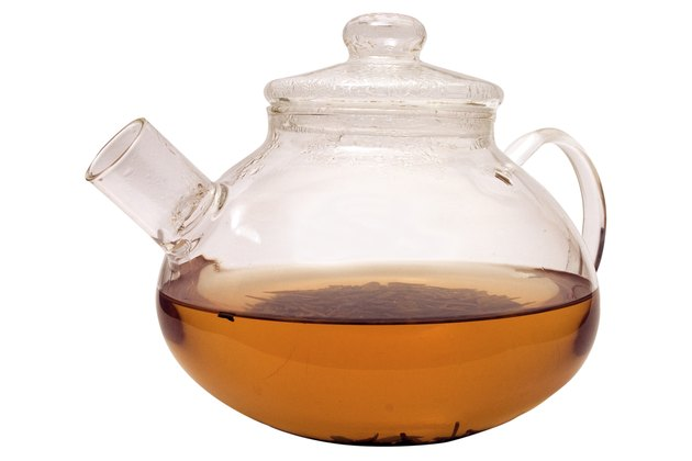 the glass teapot