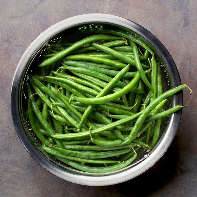 Fresh, organic string beans