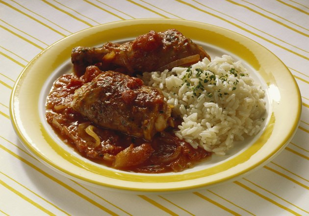 Braised Chicken Pieces with Tomatoes
