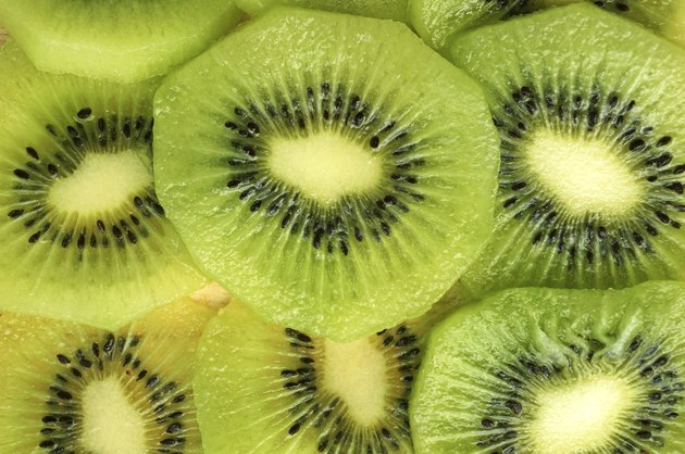 slice of kiwi fruit