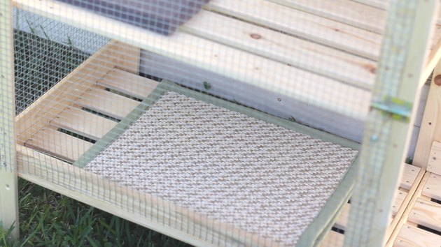 Rug mat inside catio