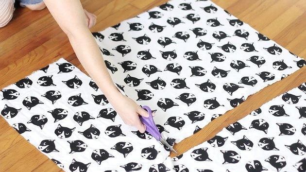 Cutting a fabric square