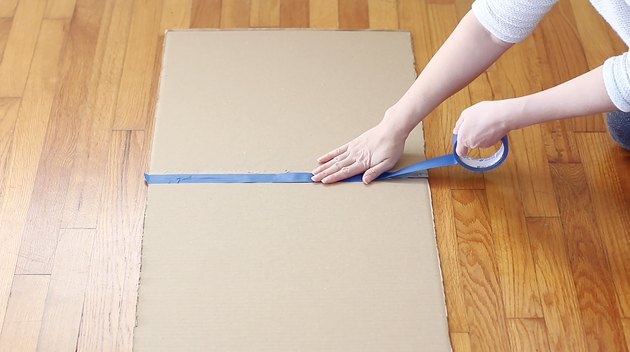 Taping scrap boards together