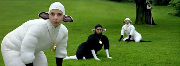 Hed: These People Dress as Sheep As...Performance Art?