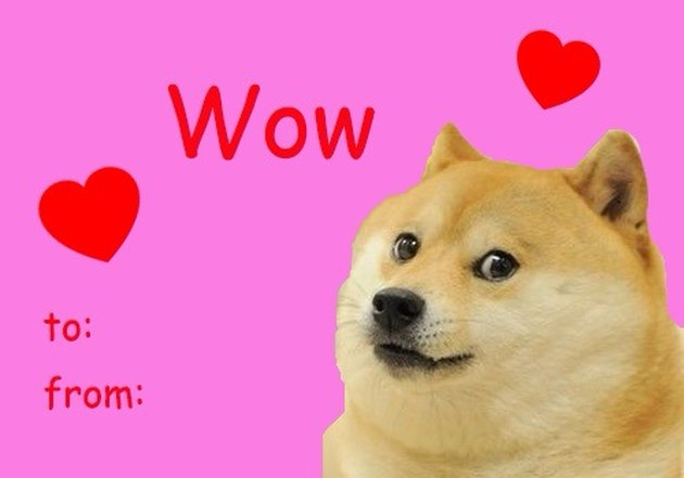 Valentine's Day card with doge