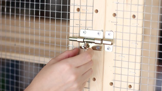 Door bolt installed on door