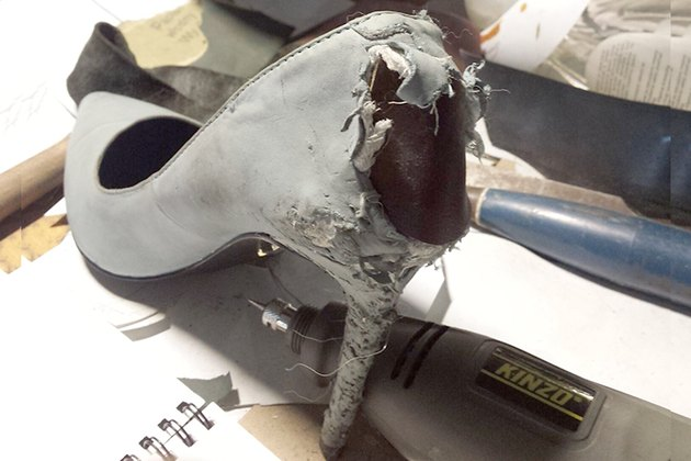 Boyfriend Saves A Pair Of Chewed-Up $500 Heels With A Creative Hack