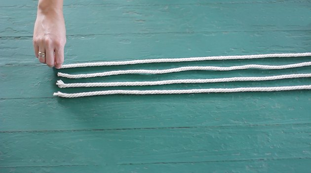 Four strands of cotton rope