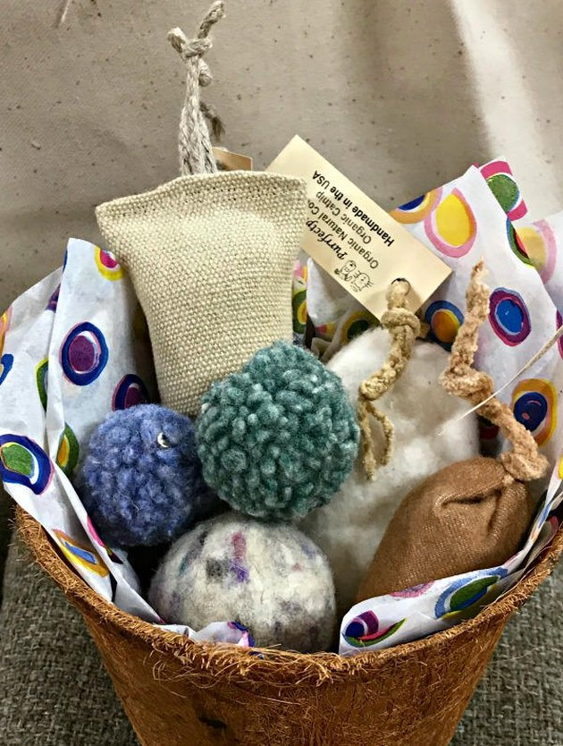 cat toy gift basket