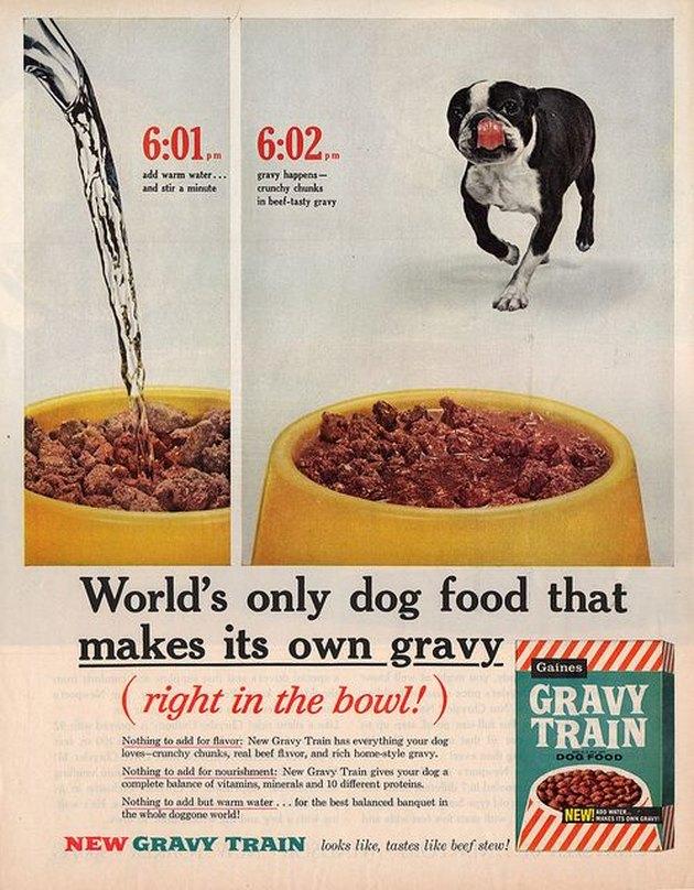 Vintage dog food add
