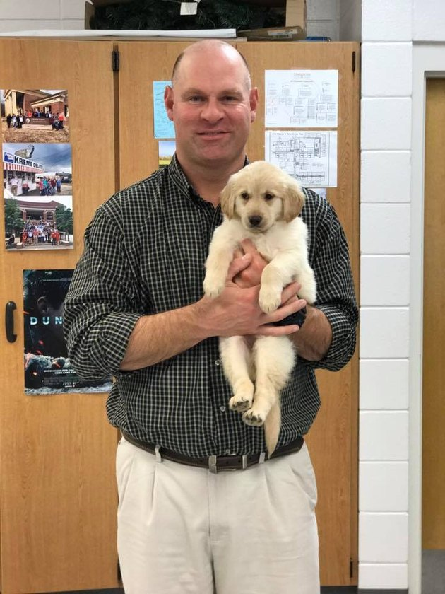 This Teacher's Students Surprised Him with a Puppy After His Dog Died