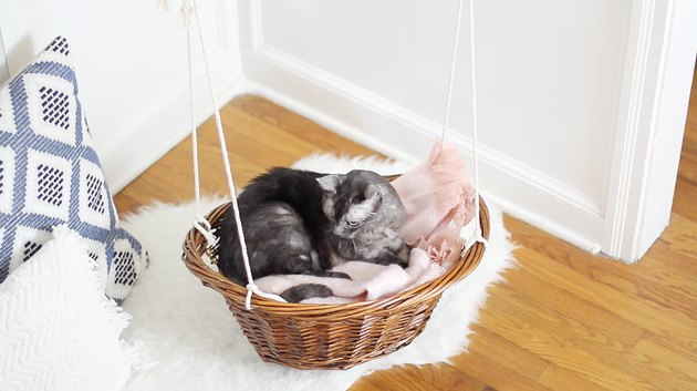 How To Turn A Laundry Basket Into A Hanging Cat Bed