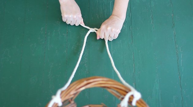 Tying two strands of rope together