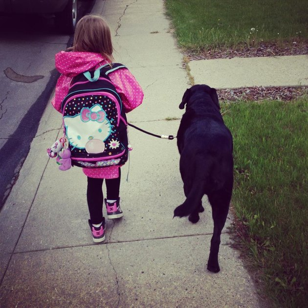 walking to school