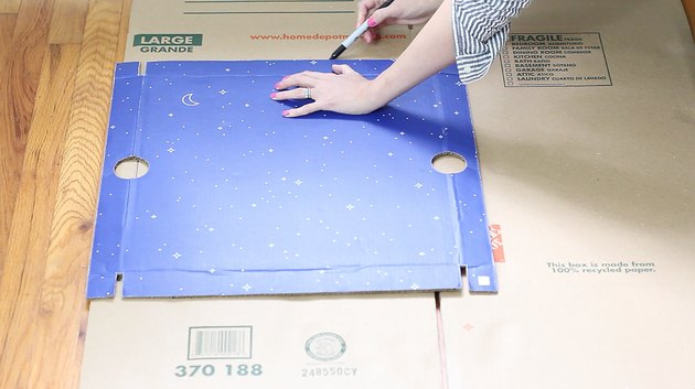 drawing a square on the box