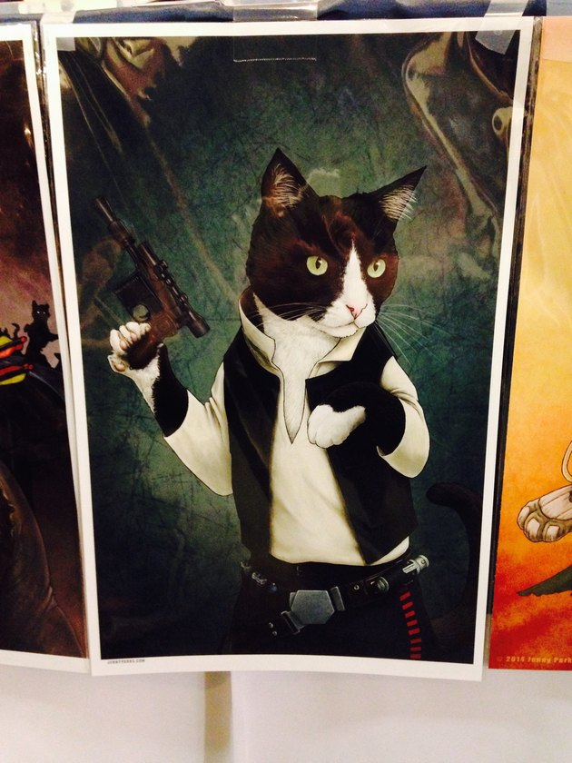 Han Solo illustrated as a cat (by artist Jenny Parks)