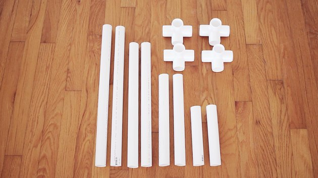 PVC pipes cut to various lengths
