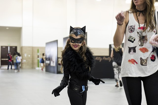 A young girl in cosplay at CatCon 2018.