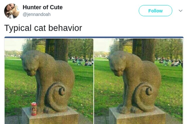 two cat statues