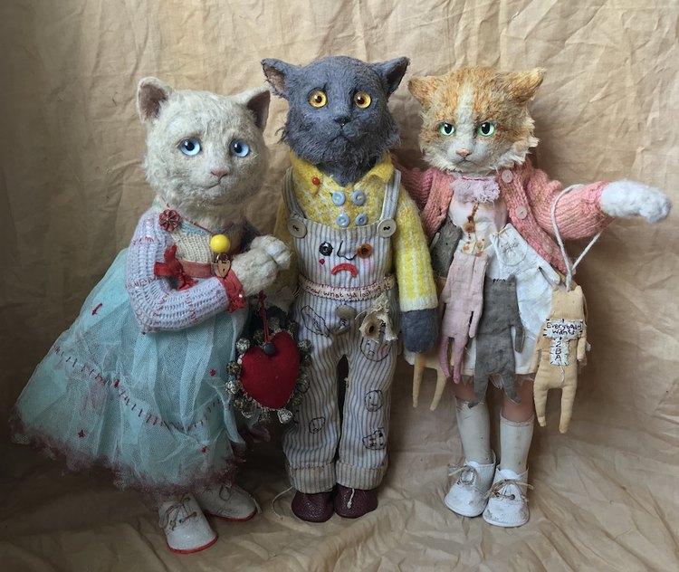 Three Cats / Annie Montgomerie / Cat Art Show