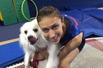 This Champion Gymnast Credits Gold Medal Win To Her Dog