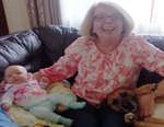 Adorable Dog & Baby Compete For Grandma's Belly Rubs