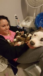 New Dog Mom Proudly Shares Her Babies With Her Foster Mom