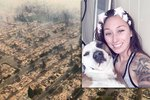 Incredible Woman Escapes Wildfires While Carrying Her 70-Pound Dog On A Bike