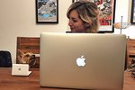 Millennial Dog Gets Mini Laptop To Match Mom