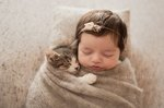 This Baby & Kitten Cuddling Are So Cute It'll Kind of Hurt Your Eyes