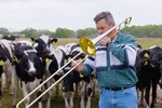 6800 Cows Gather Every Time Farmer Plays A Special Song On His Trombone